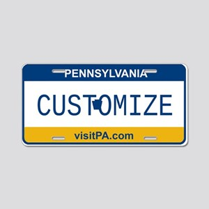 Pennsylvania Custom Aluminum License Plate