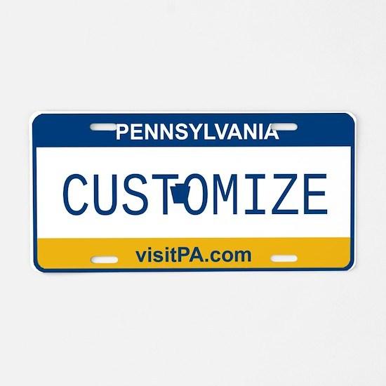 Pennsylvania Custom Aluminum License Plate
