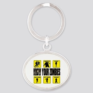 zombie, state of decay Oval Keychain