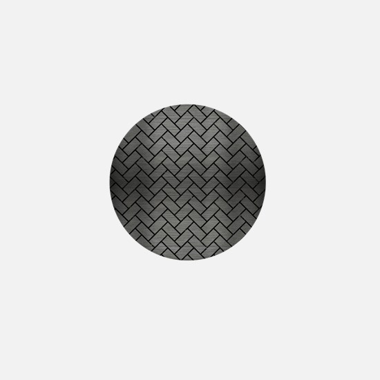 BRICK2 BLACK MARBLE & GRAY BRUSHED MET Mini Button