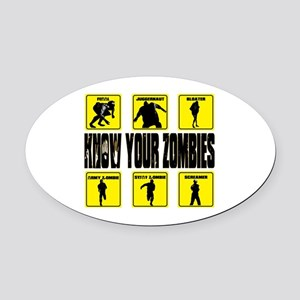 zombie, state of decay Oval Car Magnet