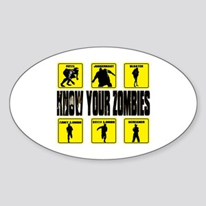 zombie, state of decay Sticker (Oval)