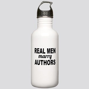 Real Men Marry Authors Water Bottle