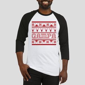 Christmas Ugly Xmas Sweater Gampa Baseball Jersey