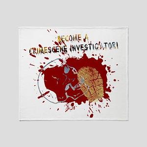 Become a Crime Scene Investigator Throw Blanket
