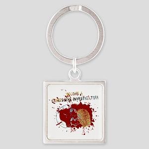 Become a Crime Scene Investigator Square Keychain