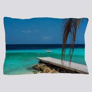 Dock on the Beach Pillow Case