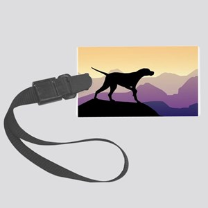 Purple Mountains Pointer Large Luggage Tag