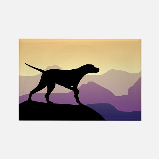 Purple Mountains Pointer Rectangle Magnet