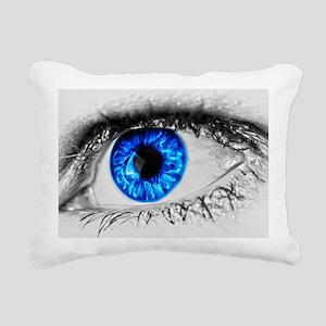 Blue Eye Rectangular Canvas Pillow