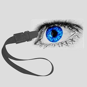 Blue Eye Large Luggage Tag