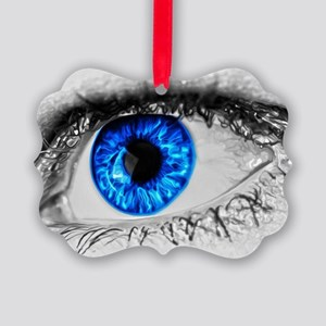 Blue Eye Picture Ornament