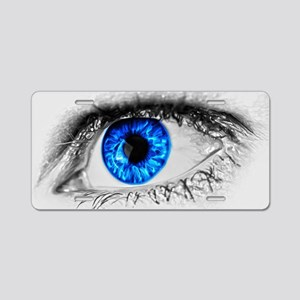 Blue Eye Aluminum License Plate