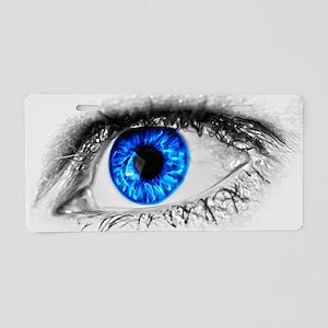 Blue Eye Aluminum License Plate