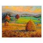 Autumn At The Countryside. Posters Small Poster