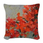 Bougainvillea Woven Throw Pillow