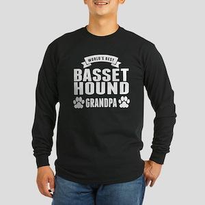 Worlds Best Basset Hound Grandpa Long Sleeve T-Shi