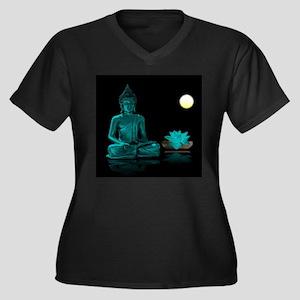 Teal Colour Buddha Plus Size T-Shirt