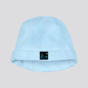 Teal Colour Buddha baby hat