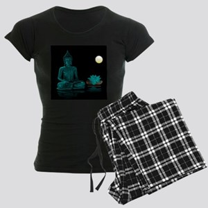 Teal Colour Buddha Women's Dark Pajamas