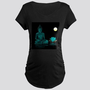 Teal Colour Buddha Maternity T-Shirt