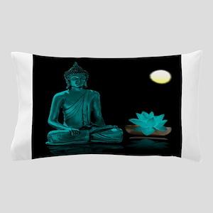 Teal Colour Buddha Pillow Case