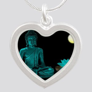Teal Colour Buddha Necklaces