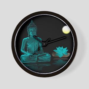 Teal Colour Buddha Wall Clock