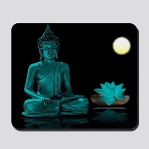 Teal Colour Buddha Mousepad