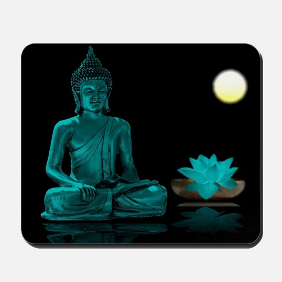 Teal Colour Buddha Mousepad
