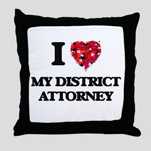 I Love My District Attorney Throw Pillow