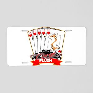 Corgi Flush Aluminum License Plate