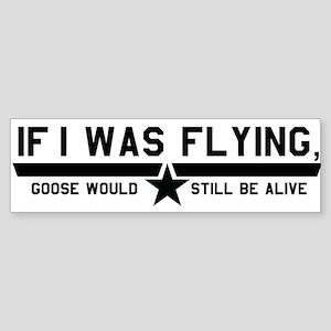 Goose (White) Bumper Sticker