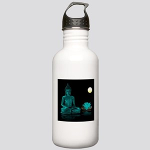Teal Colour Buddha Stainless Water Bottle 1.0L