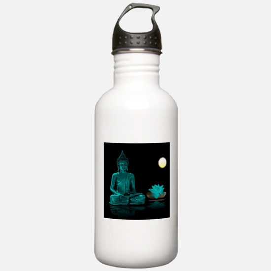 Teal Colour Buddha Sports Water Bottle