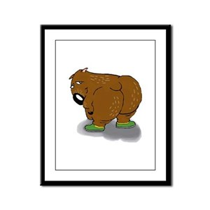 Wombat Framed Panel Print