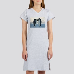 Emperor Penguin Courtship Women's Nightshirt