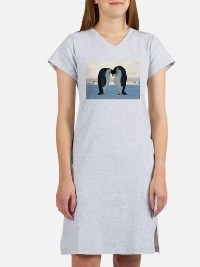 Emperor Penguin Courtship Women's Nightshirt