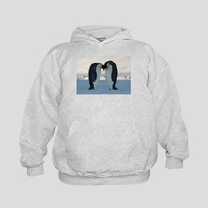 Emperor Penguin Courtship Kids Hoodie