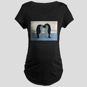 Emperor Penguin Courtship Maternity T-Shirt