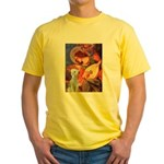 Angel / Bedlington T Yellow T-Shirt