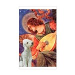 Angel / Bedlington T Sticker (Rectangle)