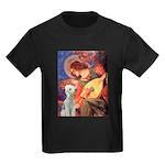 Angel / Bedlington T Kids Dark T-Shirt