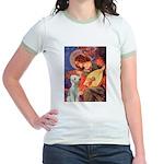 Angel / Bedlington T Jr. Ringer T-Shirt