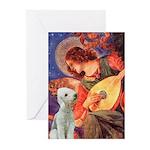Angel / Bedlington T Greeting Cards (Pk of 10)