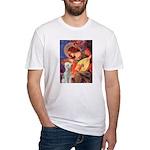 Angel / Bedlington T Fitted T-Shirt