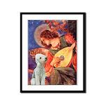 Angel / Bedlington T Framed Panel Print