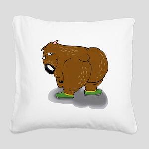 Wombat Square Canvas Pillow