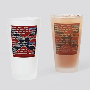 Confederate Flag by party (SC) Drinking Glass