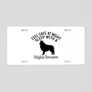 Sleep With Belgian Tervuren Aluminum License Plate